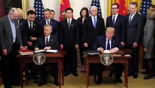 ABD ve Çin, ticaret savaşını bitiren imzaları attı