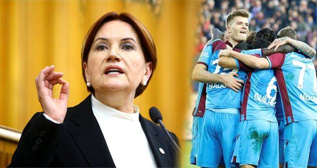 Akşener, futbolda siyaset tartışmaları hakkında: Trabzonlular benim demek istediğimi çok iyi anladı