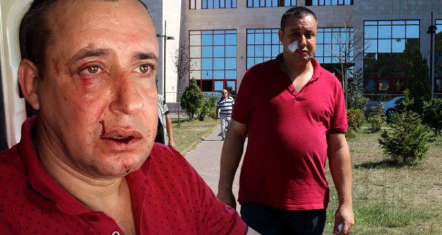Belediye işçilerinden terörle mücadele gazisine asfalt dayağı