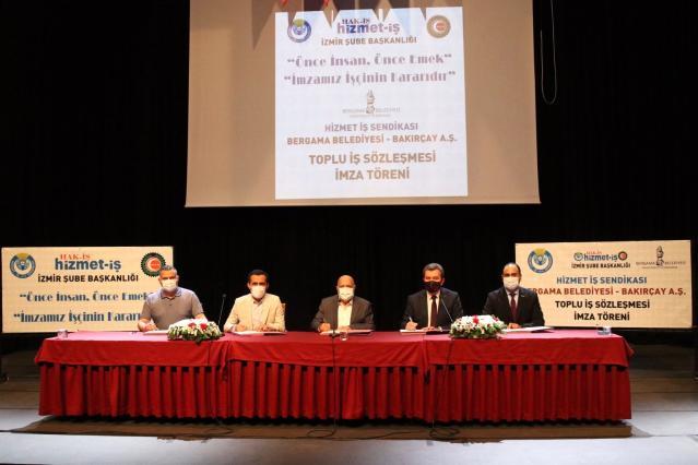 Bergama Belediyesinde toplu iş sözleşmesi sevinci