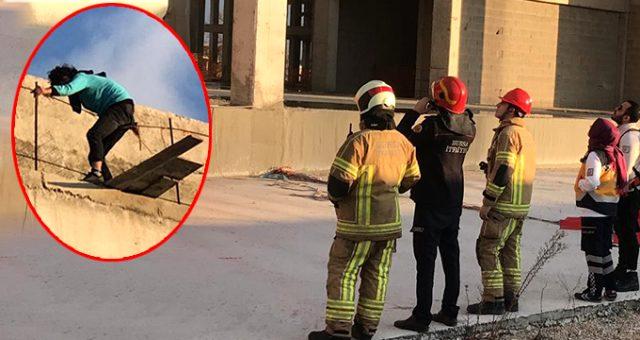 Bursa'da intihara kalkışan adamı, vatandaşlar gülerek izledi