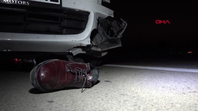 Bursa'da Otobanda otomobilin çarptığı yaya öldü