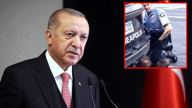 Cumhurbaşkanı Erdoğan'dan, polisin boğarak öldürdüğü ABD'li siyahi hakkında ilk yorum: İnsanlık dışı zihniyet