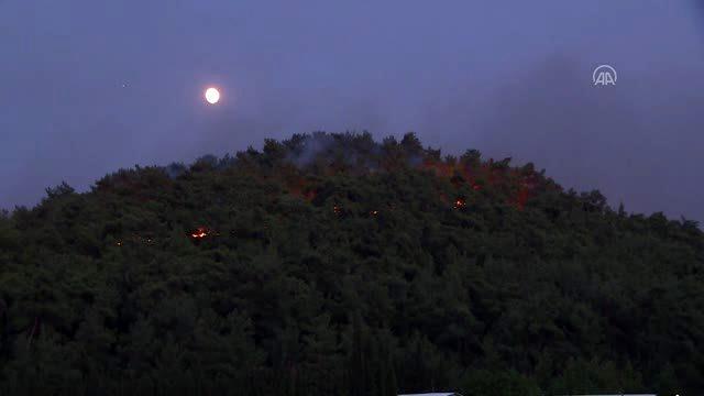 (DRONE) Menderes'te orman yangını (6)