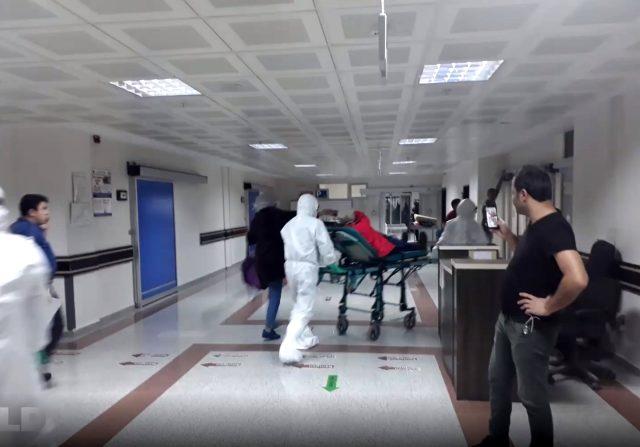 Erzurum'da karantinaya alınan hastaneden ilk görüntüler geldi