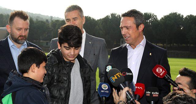 Galatasaray yerine Fenerbahçe'yi seçen çocuk Ali Koç'u mest etti!