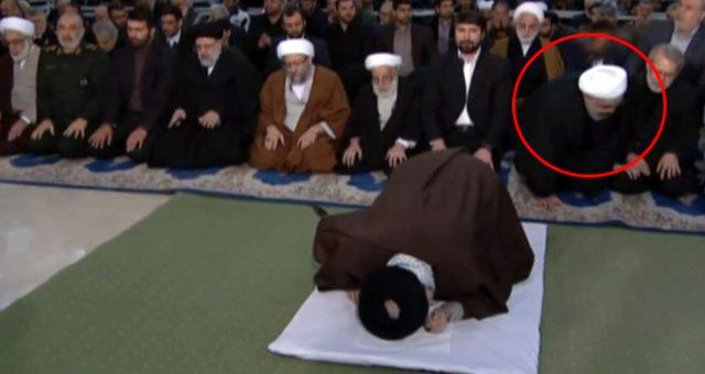 Hamaney'in kıldırdığı Cuma namazında Ruhani duaya kalmadan kalkıp gitti