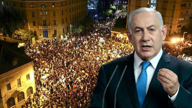 İsrail'de binlerce kişi, Başbakan Netanyahu'nun aleyhinde gösteri düzenledi
