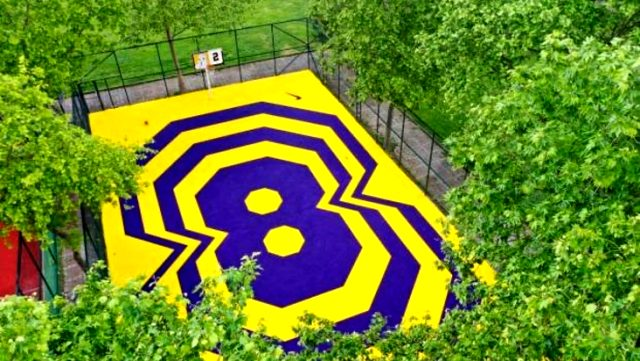 Kadıköy'de Kobe Bryant'ın anısına yapılan basketbol sahasını dünyaca ünlü spor kanalı ESPN, sosyal medyasında paylaştı