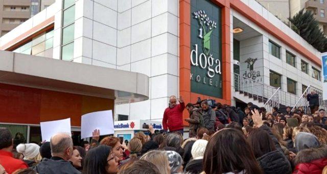 Maaşlarını alamayan öğretmenlerin ders boykotu yaptığı Doğa Koleji hakkında soruşturma başlatıldı