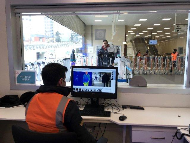 Marmaray istasyonlarında koronavirüse karşı termal kamera dönemi başladı