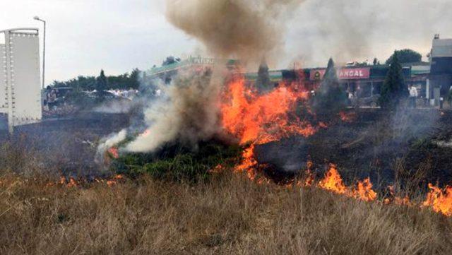 MHP'den ihraç edildikten sonra İYİ Parti'ye geçen Erhan Usta'yı meşalelerle karşılayan partililer, yangına neden oldu