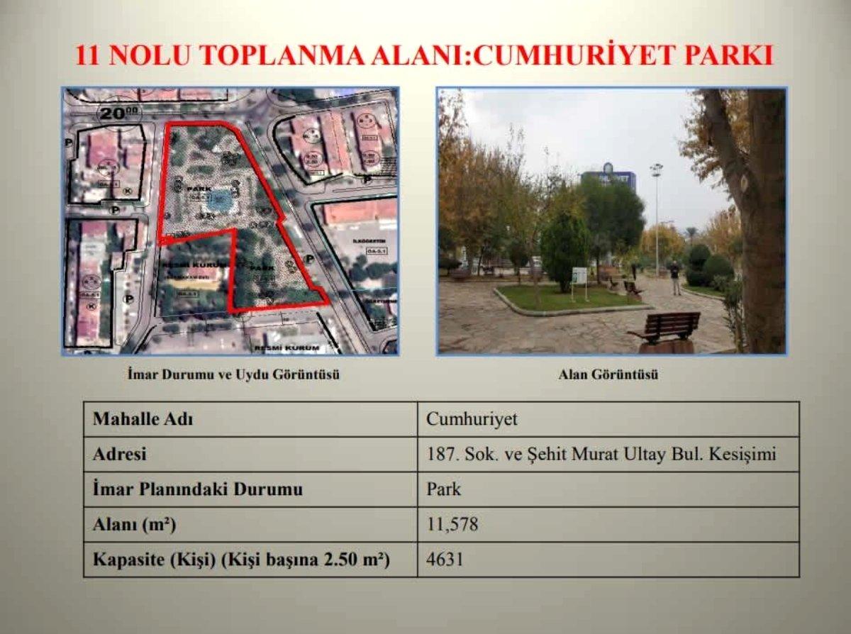 Nazilli Belediyesi ilçe genelindeki toplanma merkezlerini açıkladı