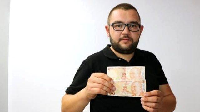 Niğde'de yaşayan vatandaş, hatalı basım 50 TL'lik banknotu 50 bin TL'ye satışa çıkardı