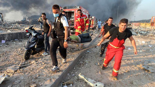 Patlamanın meydana geldiği Beyrut, savaş alanına döndü