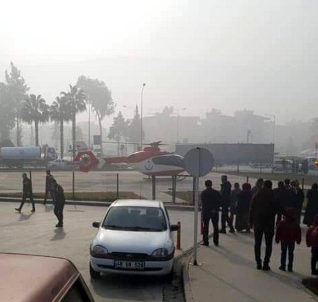 Sisli havaya aldırmayan 112 pilotu Egemen Bebek için havalandı