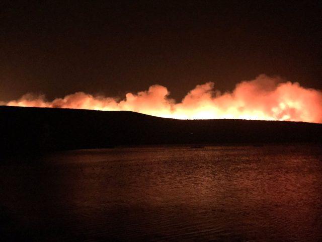 Son dakika! Çeşme'de yangın sebebiyle 4 site boşaltıldı