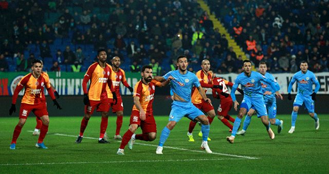 Son Dakika: Galatasaray, Çaykur Rizespor ile 1-1 berabere kaldı