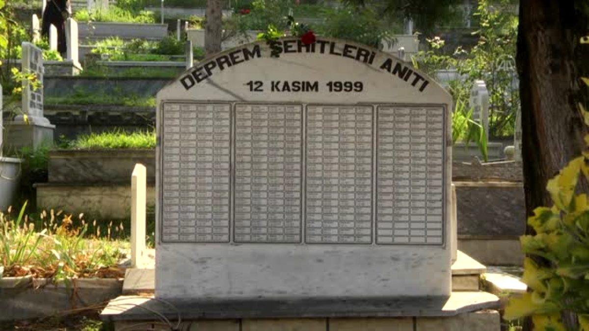 Son dakika haberleri! Düzce Depremi şehitleri mezarları başında anıldı