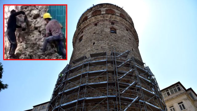 Son Dakika: Kültür Bakanlığı'ndan Galata Kulesi'ndeki tartışmalı restorasyon çalışmalarıyla ilgili açıklama: Uygulamalar bizi de rahatsız etti