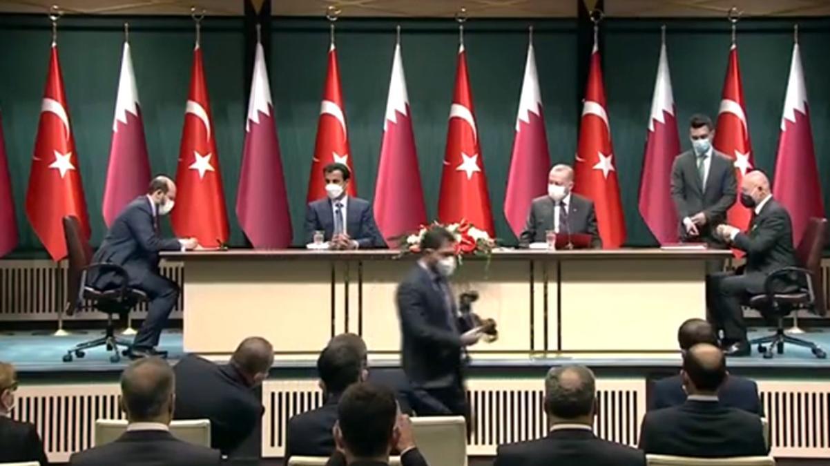 Son Dakika: Türkiye ile Katar arasında enerji, gıda, savunma, ticaret ve turizm gibi birçok alanda anlaşma imzalandı