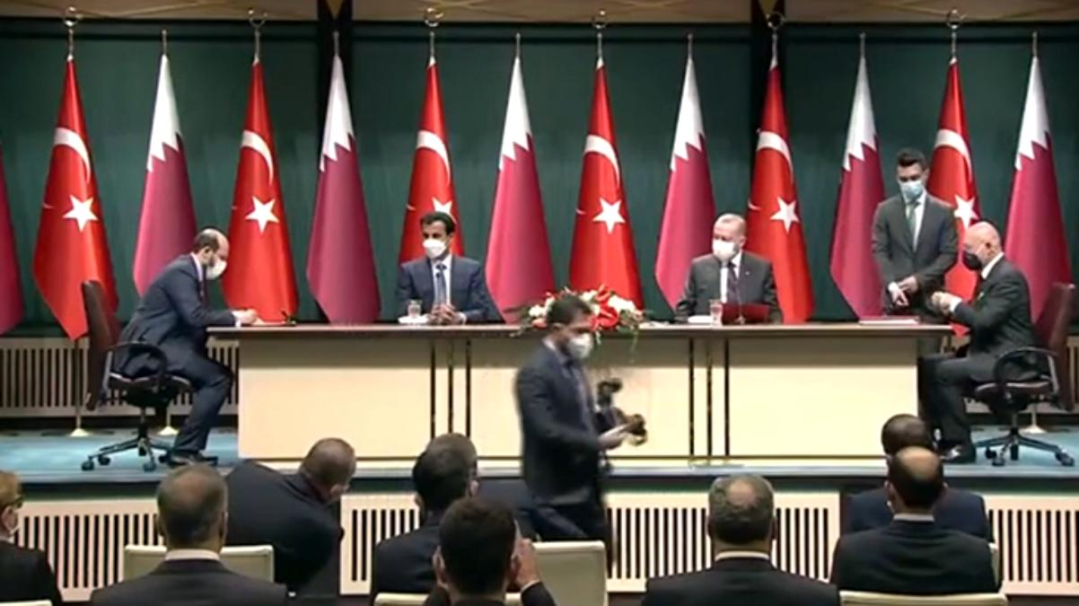 Son Dakika: Türkiye ile Katar arasında enerji, gıda, savunma, ticaret ve turizm gibi birçok anlaşma imzalandı