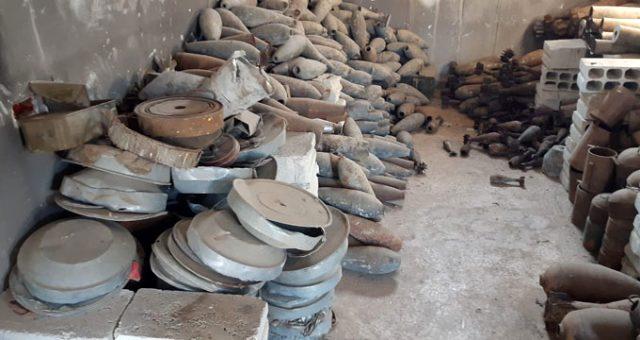 Tel Abyad'da terör örgütüne ait mayın eğitim ve depolama tesisi bulundu
