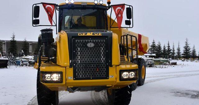"""Türkiye'nin kaya kamyonu """"Deve"""" seri üretime hazırlanıyor"""