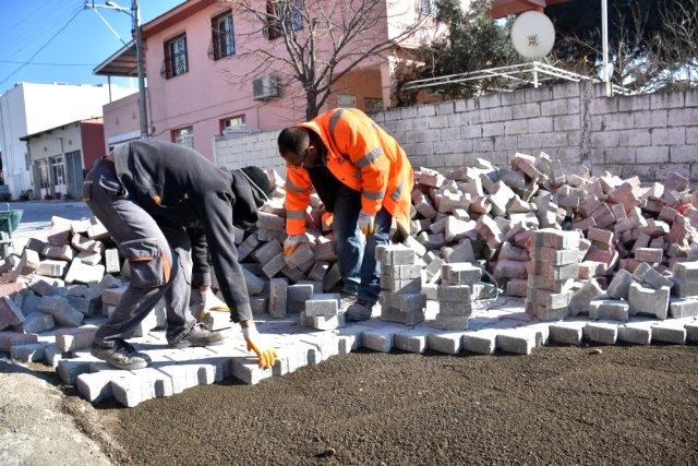 Yeni Şakran'da yol düzenleme çalışmaları devam ediyor